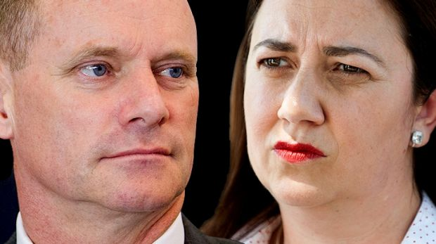 LNP state leader Campbell Newman and Labor state leader Annastacia Palaszczuk.
