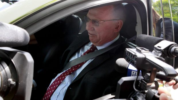 Deputy Premier Jeff Seeney leaves Government House.