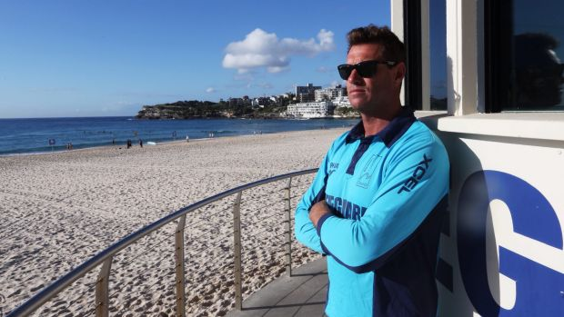 Survival tips: Bondi lifeguard Bruce Hopkins says it's important to not panic if you get into trouble in the water.