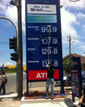 Sydney petrol price plunge: The price of unleaded petrol drops below $1 per litre for the first time in six years.
