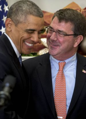 President Barack Obama with Ashton Carter, his nominee to lead the Pentagon, in December.