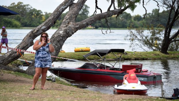The boat involved in the explosion on Lake Nagambie.