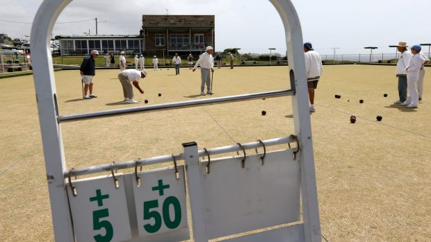 Green acres: The Clovelly Bowling Club is home to one of Sydney's last surviving bocce clubs.