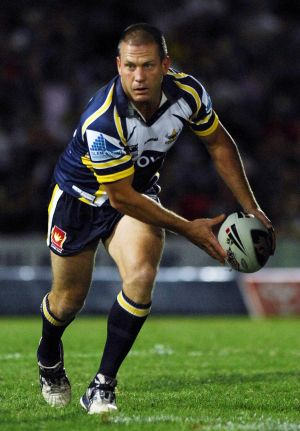 Jason Smith playing for the North Queensland Cowboys.