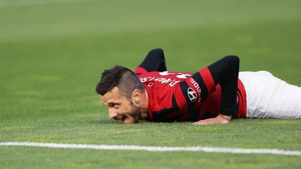 Grounded: Nikita Rukavytsya and his Wanderers teammates suffered another painful loss.