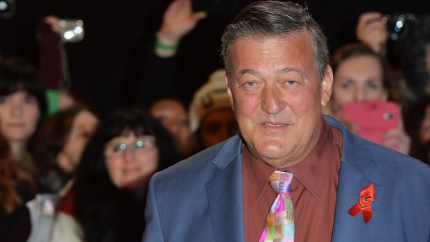 Cat out of bag: Actor and presenter Stephen Fry, 57, has given formal notice to marry partner Elliott Spencer, 27, at a ...