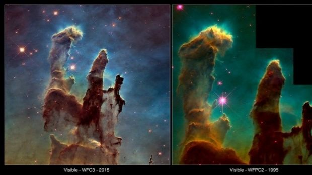The new picture of the Pillars of Creation.