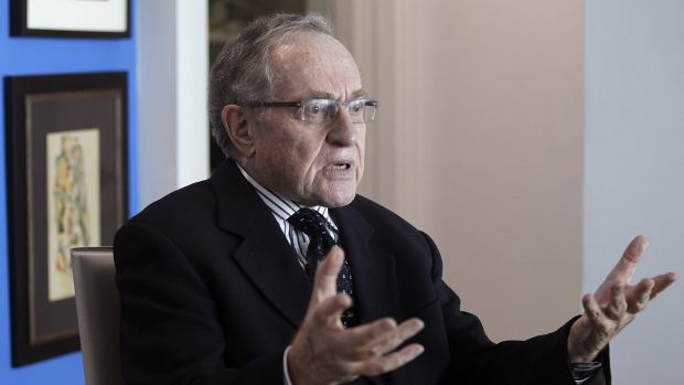 """Professor Alan Dershowitz refutes allegations he had sex with a young woman, Virginia Roberts, who claims she was a """"sex ..."""