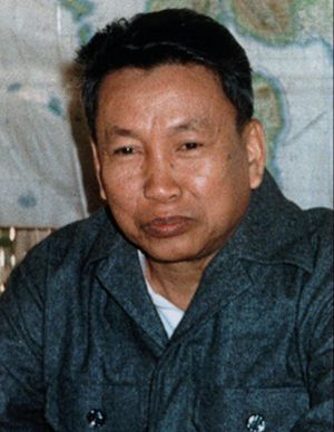 """Pol Pot, once """"Brother Number One"""" in the Khmer Rouge, photographed in 1979."""