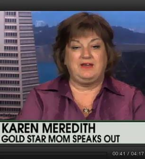 Karen Meredith, mother of Lt Ken Ballard who died in Iraq.