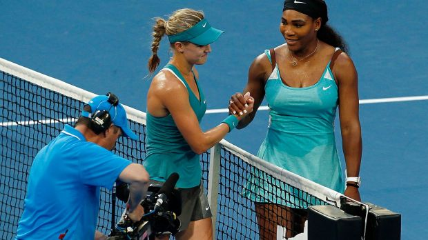 Eugenie Bouchard was surprised by the ease with which she defeated Serena Williams at the Hopman Cup.