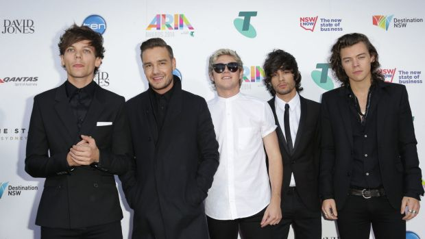 Zayn Malik with his One Direction band mates at the 2014 ARIAs in Sydney.