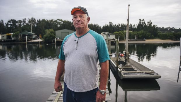 Oyster farmer Ray Wilcox outside his shed by the Clyde River.