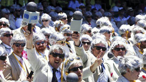 Simply marvellous: A sea of 350 Richies take over a bay at the SCG.