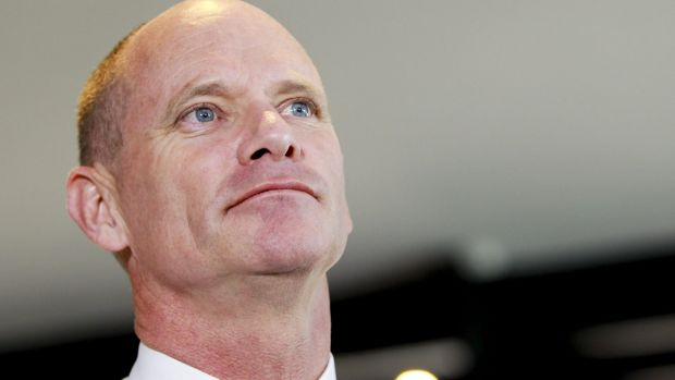 Premier Campbell Newman speaking on day one of the campaign.