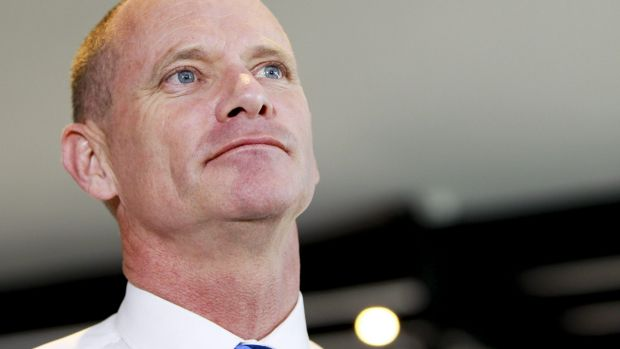Premier Campbell Newman speaking on day one of the election campaign.