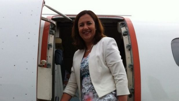 Opposition Leader Annastacia Palaszczuk prepares to leave Cairns for Townsville on day one of the election campaign.