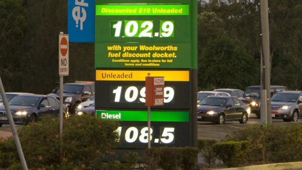 Petrol prices will not be falling to these levels in Brisbane any time soon.