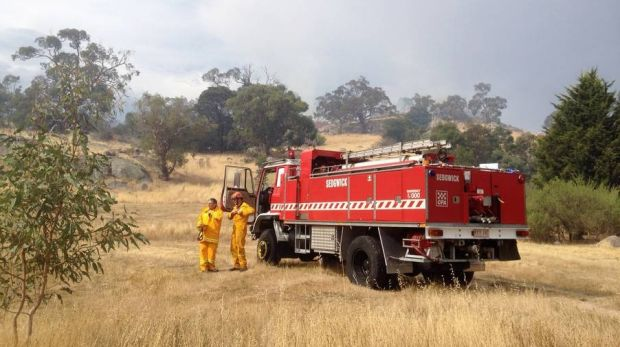 CFA crews on the scene of the fire at Harcourt North.