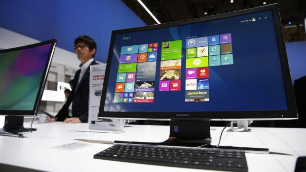 Samsung's all-in-one ATIV One 7 features a curved 27-inch screen.