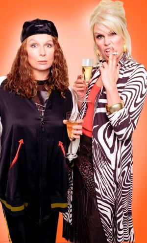 Jennifer Saunders and Joanna Lumley in <i>Absolutely Fabulous</i>.