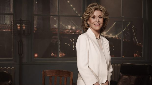 Jane Fonda stars with Lily Tomlin in the comedy <i>Grace and Frankie</i>.