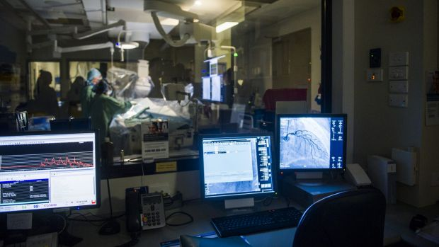 Canberra Hospital's new Cardiac Catheterisation Laboratory allows patients to be treated more quickly and exposed to ...