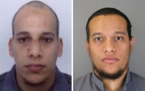Photos released by French police showing terror suspects Cherif Kouachi and his brother Said.