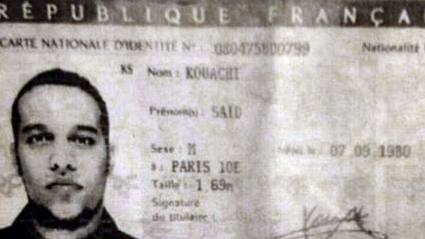 Police found Said Kouachi's ID in the gunmen's car.