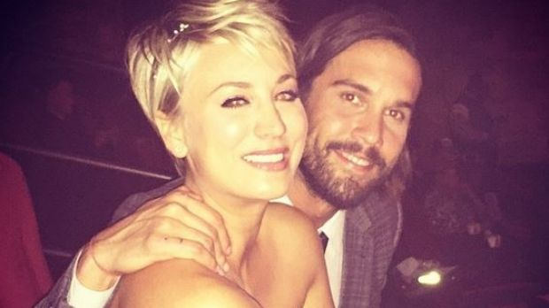 Cuoco and husband Ryan Sweeting this week.