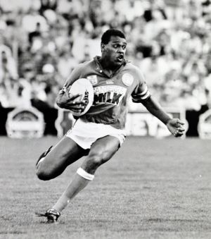 Legend: Ken Nagas playing for the Canberra Raiders in their 1994 premiership season.