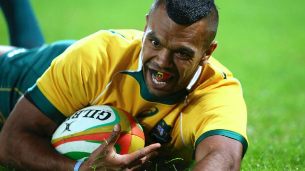 Staying put: Kurtley Beale is staying with rugby.