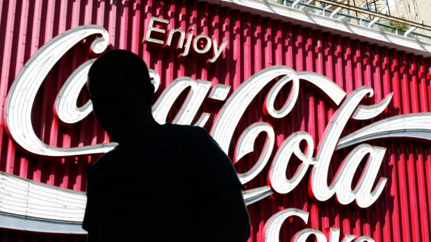 Coca-Cola Amatil jumped 6.3 per cent to $10.61 despite posting its lowest profit for eight years.