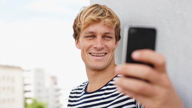 Bad look: The research showed that men who are fond of a selfie display a range of antisocial behaviours.