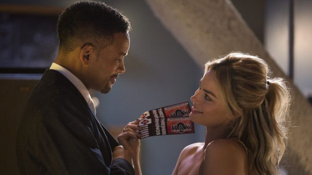 Chemistry: Margot Robbiewith Will Smith in <i>Focus</i>.