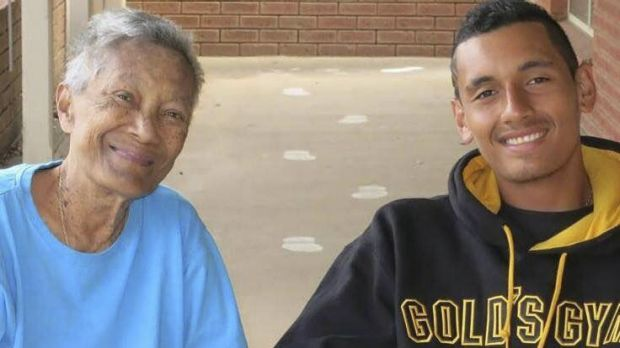 Family nan: Nick Kyrgios with his grandmother Julianah Foster. ''She was a massive part of me, my brother and my ...