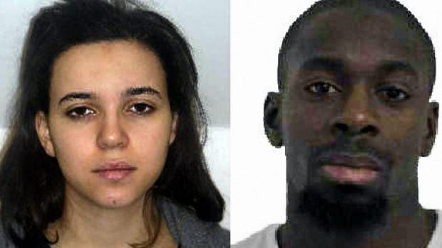 Hayat Boumeddiene (left) and Amedy Coulibaly (right) are suspected of being involved in the killing of a policewoman in ...