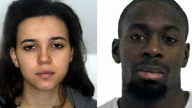 Hayat Boumeddiene (left) and Amedy Coulibaly (right), who grew up in the Grande Borne.