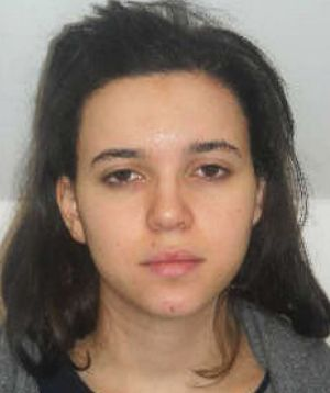 Likely in Syria: Hayat Boumeddiene in a French police photo.
