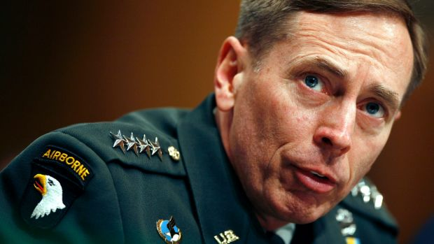 DISGRACED: David Petraeus quit the CIA after news of his affair broke.