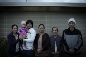 No fear: Mae Sie Win, second from left, and wife Myar and daughter Sophie, with his sister and parents at their home in ...