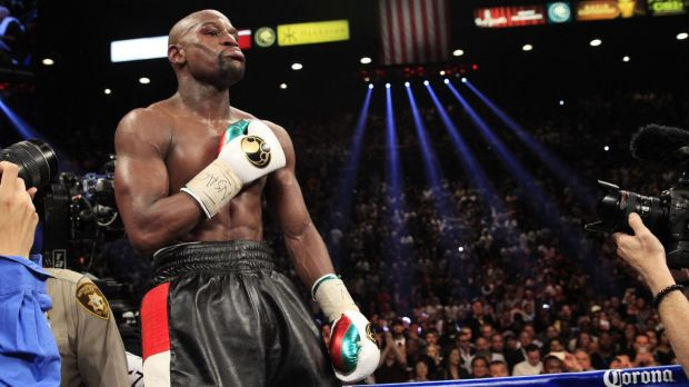 In limbo: Floyd Mayweather's promotional tour of Australia is under a cloud.