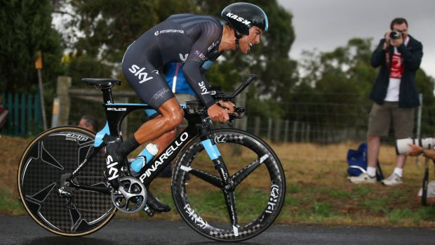 Switching gear: Australia's Richie Porte.
