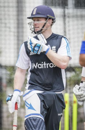 New England captain Eoin Morgan, training in Canberra.