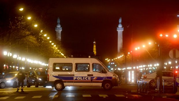 Police on high alert after the Charlie Hebdo shootings in January.