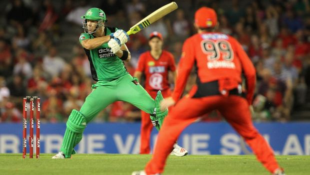 Kevin Pietersen of the Stars in action during the first Melbourne derby which the Stars won easily.