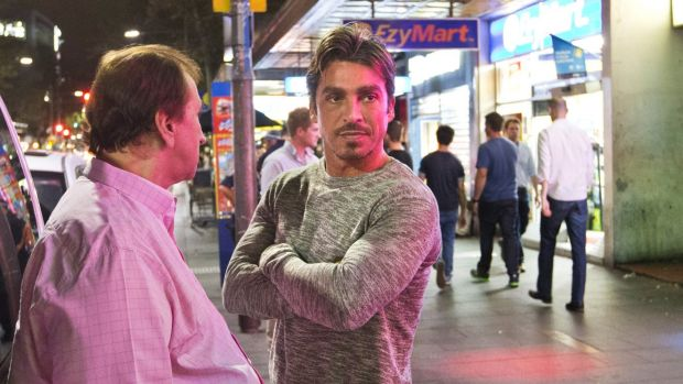 Notorious: John Ibrahim (facing) with fellow nightclub owner Frank Amarti.