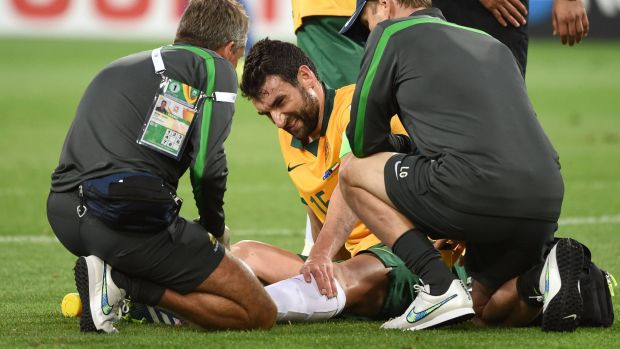 Mile Jedinak injured his ankle in the Socceroos' opener against Kuwait.