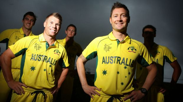 Confirmed: Members of the Australian World Cup squad at the MCA, Sydney.