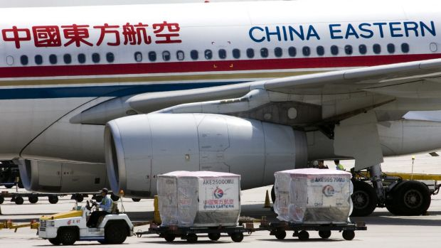 A China Eastern airline flight before takeoff in Beijing. Air rage is a common occurrence in China.